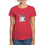 Painter Penguin Women's Dark T-Shirt