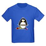 Knitting Penguin Kids Dark T-Shirt
