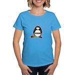 Knitting Penguin Women's Dark T-Shirt
