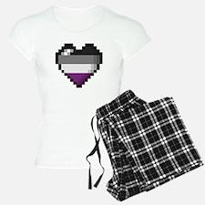 Asexual Pixel Heart Pajamas