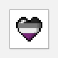 Asexual Pixel Heart Sticker