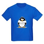 I Love Penguins Penguin Kids Dark T-Shirt