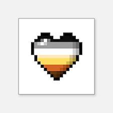 Bear Pixel Heart Sticker