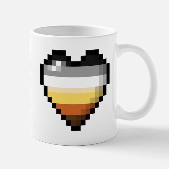 Bear Pixel Heart Mugs