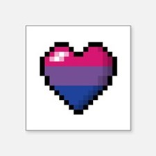 Bisexual Pixel Heart Sticker