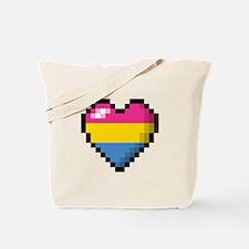 Pansexual Pixel Heart Tote Bag