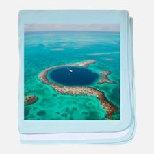 GREAT BLUE HOLE 1 baby blanket