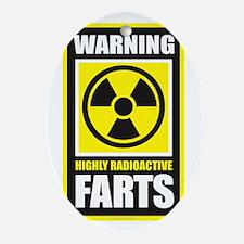 Warning Farts Oval Ornament