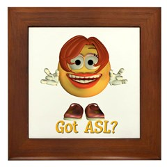 ASL Girl - Framed Tile