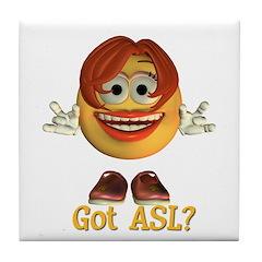 ASL Girl - Tile Coaster