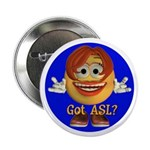 ASL Girl - Button