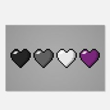 Asexual Pixel Hearts Postcards (Package of 8)