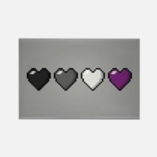 Asexual Pixel Hearts Rectangle Magnet