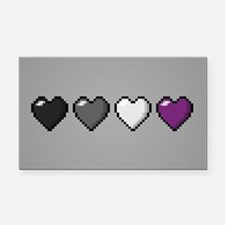 Asexual Pixel Hearts Rectangle Car Magnet
