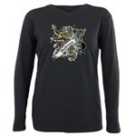 Anderson Tartan Lion Plus Size Long Sleeve Tee - Scottish lion rampant with the Anderson clan tartan and a banner with the family name. - Availble Sizes:1 (16/18),2 (20/22),3 (24/26),4 (28/30),5 (32/34) - Availble Colors: Black,Navy,Wine