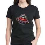 Evil Space Ship Penguin Women's Dark T-Shirt