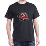 Evil Space Ship Penguin Dark T-Shirt