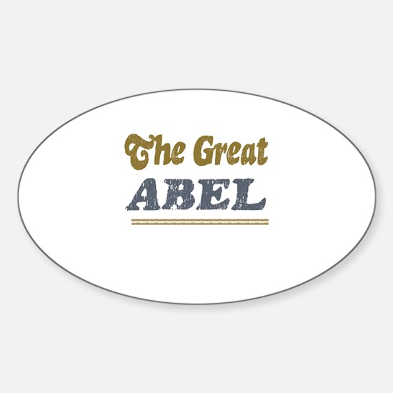 Abel Oval Decal