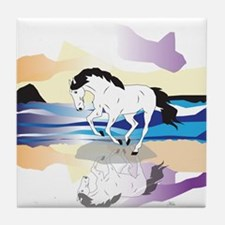 Horse And Cloud Tile Coaster
