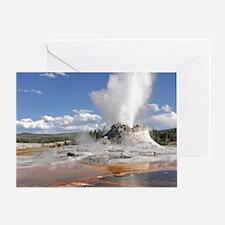YELLOWSTONE CASTLE GEYSER Greeting Card