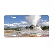 YELLOWSTONE CASTLE GEYSER Aluminum License Plate