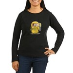 BioHazard Penguin Women's Long Sleeve Dark T-Shirt
