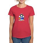 Basketball Penguin Women's Dark T-Shirt