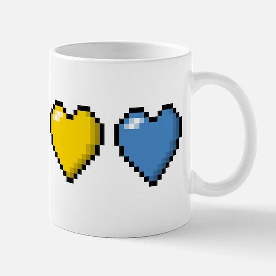 Pansexual Pixel Hearts Mugs