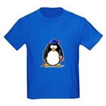 Baseball Penguin Kids Dark T-Shirt