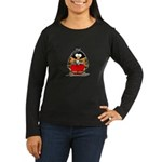 Auto Racing Penguin Women's Long Sleeve Dark T-Shi