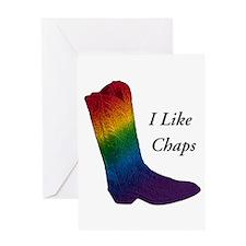 Gay Cowboy I Like Chaps Greeting Card