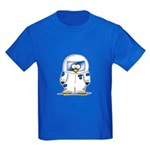 Astronaut Penguin Kids Dark T-Shirt