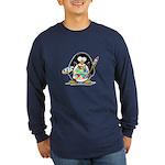Artist Penguin Long Sleeve Dark T-Shirt
