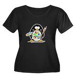 Artist Penguin Women's Plus Size Scoop Neck Dark T