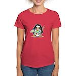 Artist Penguin Women's Dark T-Shirt