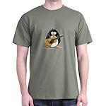 Acoustic Guitar Penguin Dark T-Shirt