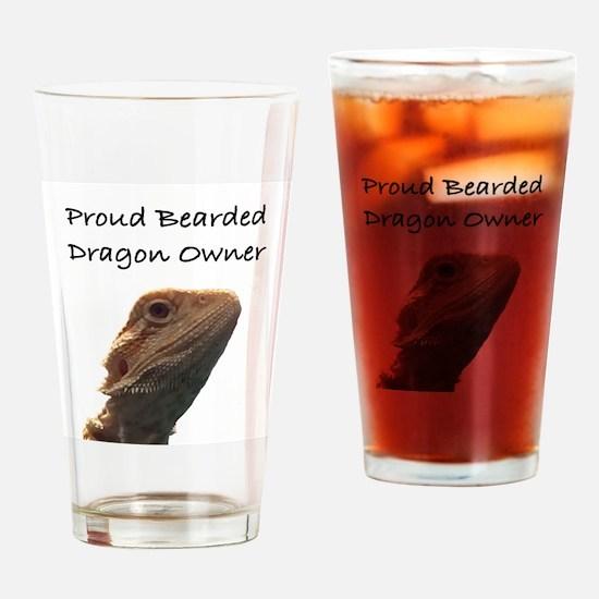 Cute Bearded dragon Drinking Glass
