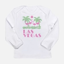 Cute What happens in vegas Long Sleeve Infant T-Shirt
