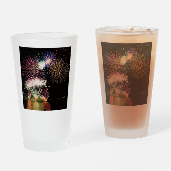 Unique Fireworks Drinking Glass