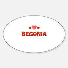 Begonia Oval Decal