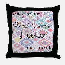 Cute Hook Throw Pillow