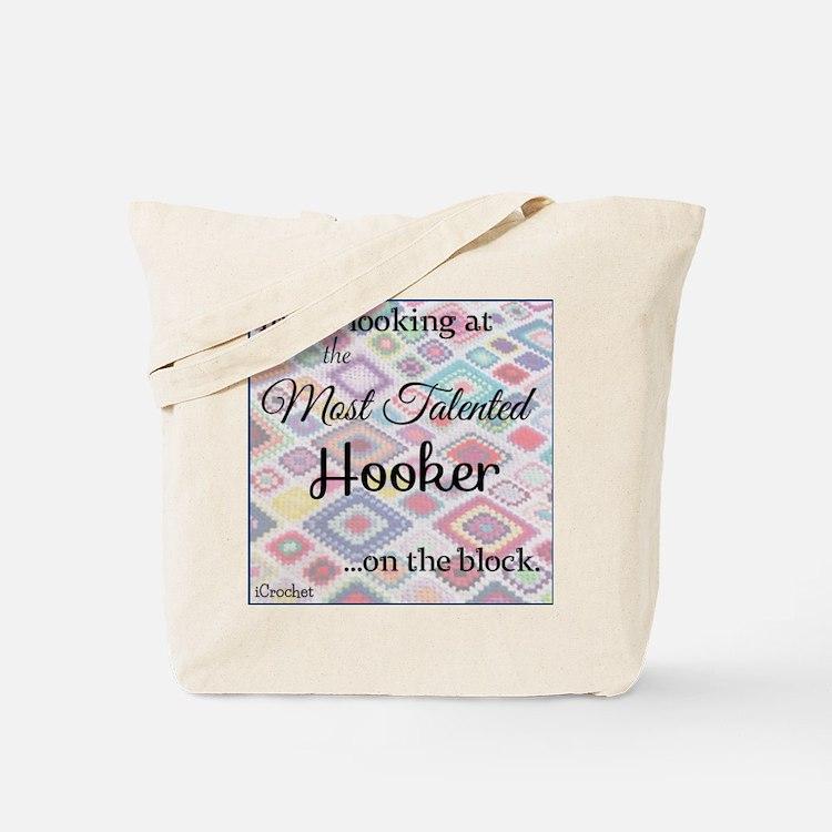 Cute Crochet hooker Tote Bag