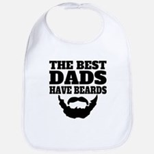 The Best Dads Have Beards Bib