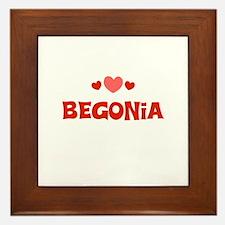 Begonia Framed Tile