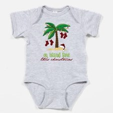 Cute Tropical christmas Baby Bodysuit