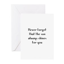 Never forget that the sun alw Greeting Cards (Pk o