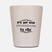 Cardiac V-Fib Humor Shot Glass