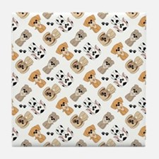 PUPS-N-PAWS Tile Coaster