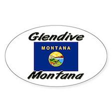 Glendive Montana Oval Decal
