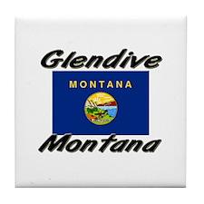 Glendive Montana Tile Coaster